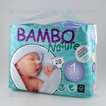 Picture of BAMBO NATURE NEWBORN, sauskelnės, 2 - 4 kg, 28 vnt.