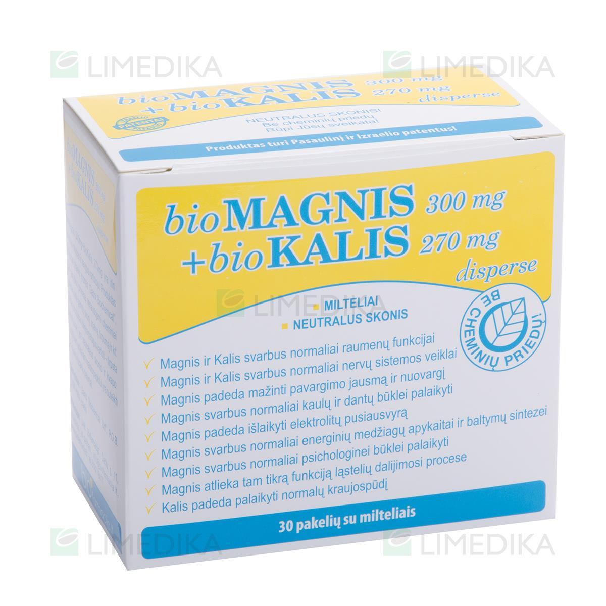 magnis ir kalis gydant hipertenziją