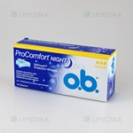 Picture of O.B. PRO COMFORT NIGHT NORMAL, tamponai, 16 vnt.