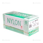 Picture of Siūlai NYLON vetsuture (USP 1) 90cm. pj. 3/8 30mm. N12 (Noevia SAS)