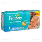 Picture of PAMPERS ACTIVE BABY VP-, sauskelnės, Nr. 6, 15+ kg, 56 vnt.