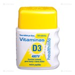 Picture of HEALTHILIFE, vitaminas D3, 400 TV, 120 tablečių