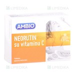 Picture of AMBIO NEORUTIN SU VITAMINU C, 90 tablečių