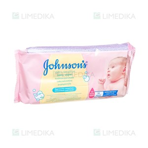 Picture of JOHNSON'S BABY, drėgnos servetėlės EXTRA SENSITIVE, 56 vnt.