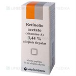 Picture of Retinolio acetato (vitamino A) aliejinis tirpalas, 3,44 %, 10 ml