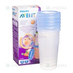 Picture of PHILIPS AVENT, indeliai Via su dangteliais, SCF639/05, 240 ml, 5 vnt.