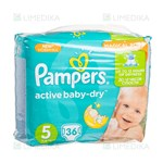 Picture of PAMPERS ACTIVE BABY VP - JUNIOR, sauskelnės, Nr. 5, 11 kg - 18 kg, 36 vnt.