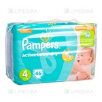 Picture of PAMPERS ACTIVE BABY VP - MAXI, sauskelnės, Nr. 4, 7 kg - 14 kg, 46 vnt.
