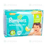Picture of PAMPERS ACTIVE BABY VP - MAXI +, sauskelnės, Nr. 4, 9 - 16 kg, 40 vnt.