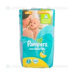 Picture of PAMPERS NEW BABY VP - MINI, sauskelnės, Nr. 2, 3 kg - 6 kg, 66 vnt.
