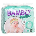 Picture of BAMBO NATURE MINI, sauskelnės, 3 -  6 kg, 30 vnt.