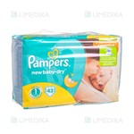 Picture of PAMPERS NEW BABY NEWBORN, sauskelnės, 2 - 5 kg, 43 vnt.