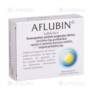 Picture of AFLUBIN, tabletės, N48