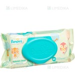 Picture of PAMPERS BABY WIPES NATURAL CLEAN, servetėlės, 64 vnt.