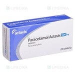 Picture of PARACETAMOL ACTAVIS, 500 mg, tabletės, N20