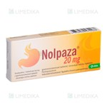 Picture of NOLPAZA, 20 mg, skrandyje neirios tabletės, N7