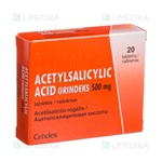 Picture of ACETYLSALICYLYC ACID GRINDEKS, 500 mg, tabletės, N20
