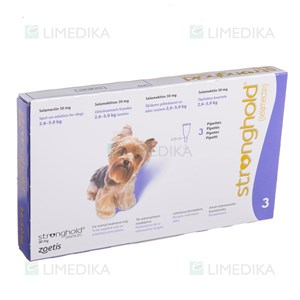 Picture of STRONGHOLD 30mg 12%  0.25ml 2,6-5kg N3 (Zoetis)