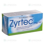 Picture of ZYRTEC, 1 mg/ml, geriamasis tirpalas, 75 ml