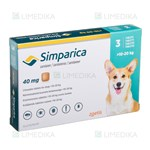 Picture of SIMPARICA 40mg 10-20kg N3 (Zoetis)