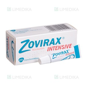 Picture of ZOVIRAX INTENSIVE, 5 %, kremas, (l.imp.), 2 g