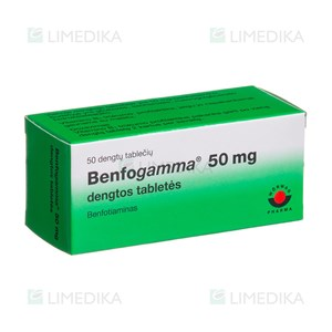 Picture of BENFOGAMMA, 50 mg, dengtos tabletės, N50