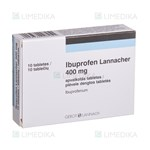 Picture of IBUPROFEN LANNACHER, 400 mg, plėvele dengtos tabletės, N10