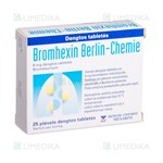 Picture of BROMHEXIN BERLIN-CHEMIE, 8 mg, dengtos tabletės, N25
