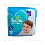 Picture of PAMPERS ACTIVE BABY DRY, sauskelnės, 6 dydis, 13-18 kg, 32 vnt.