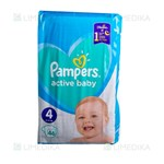 Picture of PAMPERS ACTIVE BABY DRY, sauskelnės, 4 dydis, 9-14 kg, 46 vnt.