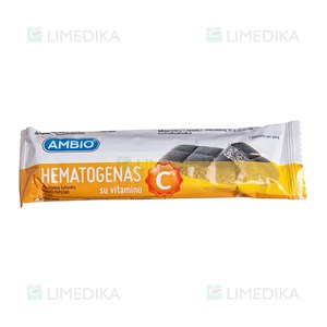 Picture of AMBIO HEMATOGENAS SU VITAMINU C, 40 g