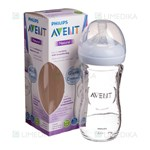 "Picture of PHILIPS AVENT, buteliukas stiklinis ""Natural"", SCF053/17, 240 ml"
