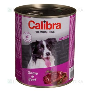Picture of CALIBRA PREMIUM Dog Can, Adult with Game & Beef, 800 g
