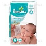 Picture of PAMPERS PRO CARE, 0 dydis, sauskelnės, 36 vnt.
