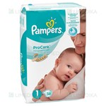 Picture of PAMPERS PRO CARE, 1 dydis, sauskelnės, 38 vnt.