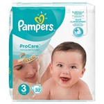 Picture of PAMPERS PRO CARE, 3 dydis, sauskelnės, 32 vnt.