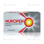 Picture of NUROFEN FORTE, 400 mg, dengtos tabletės, N12