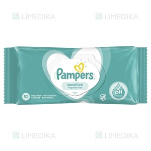 Picture of PAMPERS SENSITIVE, servetėlės, 52 vnt.