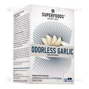 Picture of SUPERFOODS ODORLESS GARLIC, 50 kapsulių