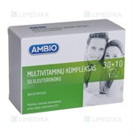 Picture of AMBIO MULTIVITAMINŲ KOMPLEKSAS SU ELEUTEROKOKU, 30 + 10 tablečių