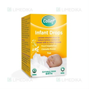 Picture of COLIEF INFANT DROPS, laktazės fermento lašai, 7 ml