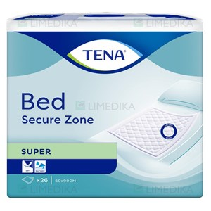 Picture of TENA BED SUPER SECURE ZONE, paklotai, 60 x 90 cm, 26 vnt.
