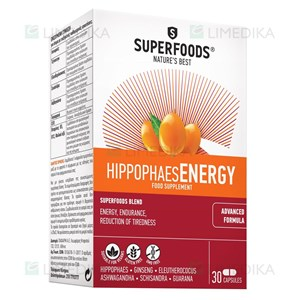 Picture of SUPERFOODS HIPPOPHAES ENERGY, 30 kapsulių