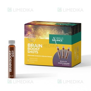 Picture of ACORUS BALANCE BRAIN BOOST SHOTS, skystis, 25 ml, 14 vnt.