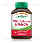 Picture of JAMIESON WILD SALMON & FISH OIL, žuvų taukai, 1000 mg, 90 minkštų kapsulių