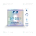 Picture of DUREX INVISIBLE EXTRA LUBRICATED, prezervatyvai, 3 vnt.